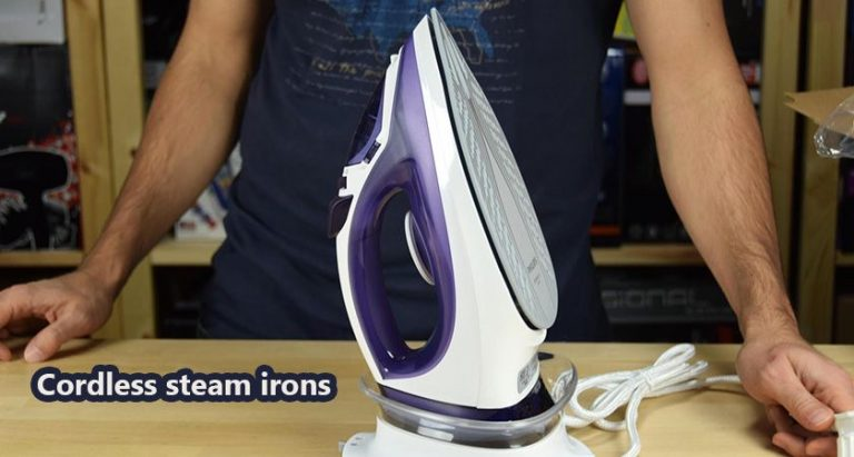 Cordless steam irons