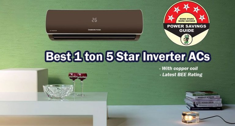 1 ton 5 Star Inverter ACs