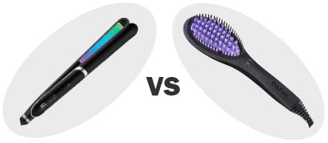 Flat Iron Vs. Brush Hair Straightener