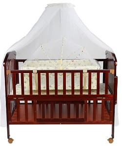 Luvlap C80 Wooden Baby Cot
